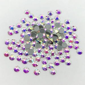 Large Size AB Crystal Rhinestones Hot fix Strass for Bikini in bulk price