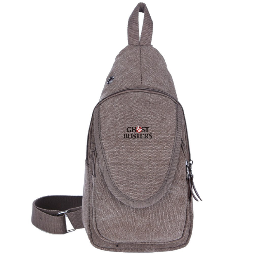 0cb27e93c4 Get Quotations · Ghostbusters Logo Unbalance Backpack Sling Bag Chest Pack  Brown
