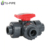 PVC three ways ball valve dn20 dn32 dn40 dn50 pn16