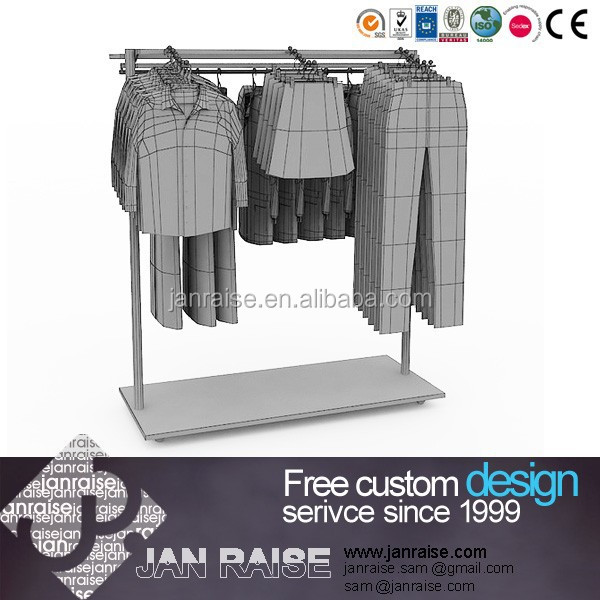 Factory price clothing stores display rack clothes display stand OK-10039