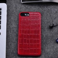 Ultra thin protective series case for iPhone 7 Plus PU case (red)
