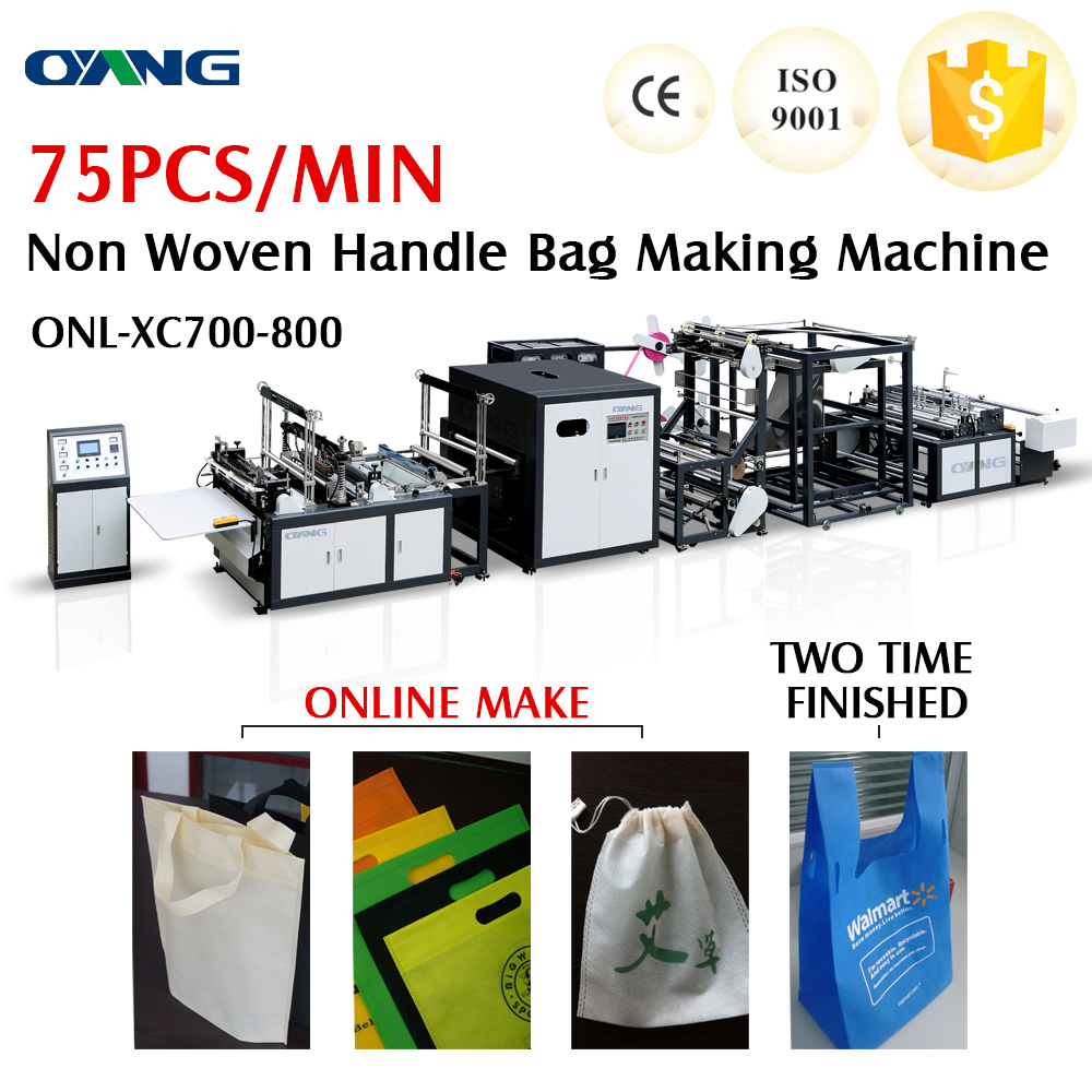 Leader of manufacturer of standard quality automatic non woven bag making machine for D-cut bag