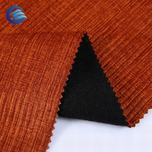 Popular material burgundy flax-like fiber flame retardant dyeing fabric
