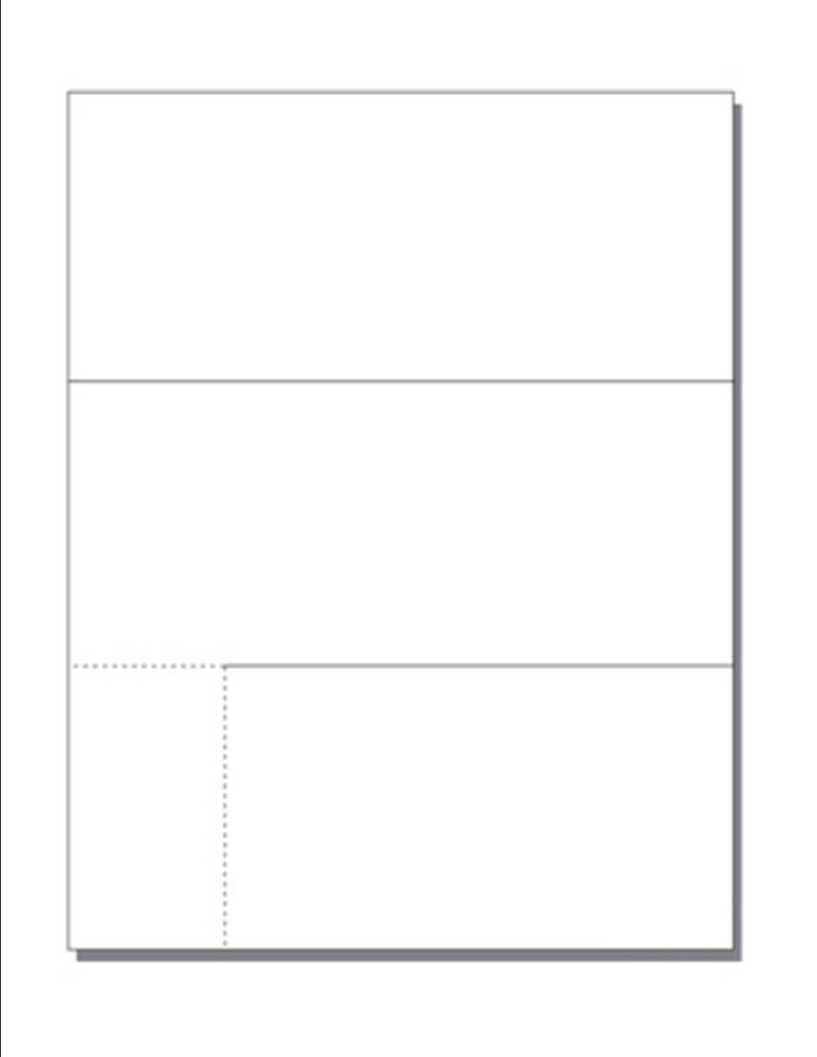 """Print-Ready Tri-Fold Mailer (3-2/3"""" x 8-1/2"""", Folded) with Die-Cut Business Card (2"""" x 3-5/8""""), on 8-1/2"""" x 11"""" White 67lb Vellum Paper - 250 Sheets (Mailers)"""