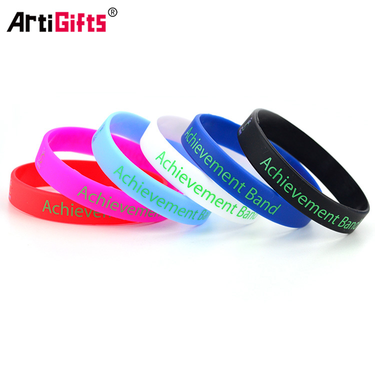 Wholesale promotion silicone cool rubber sport kids wristband band bracelet