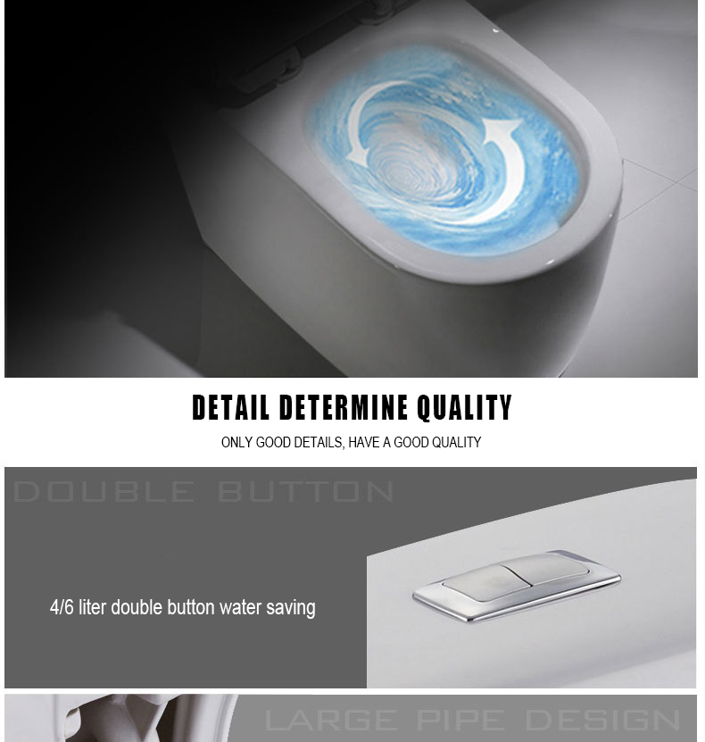 High Quality Floor Mounted S-trap Siphon Flushing White Porcelain One Piece Toilet