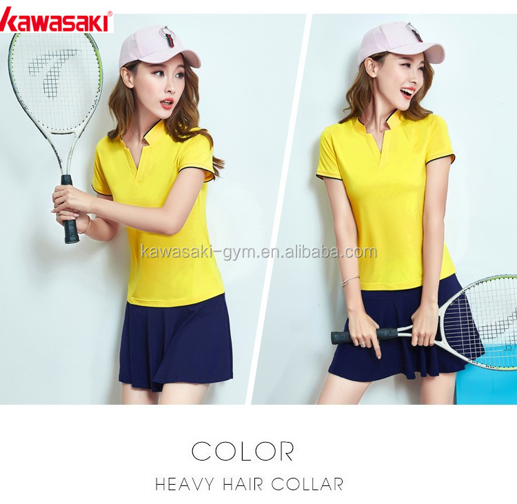 Sublimation fine quality fitness durable tennis polo jersey and skirts for ladies