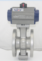 Flowx actuator V type flanged electric high temperature ball valve