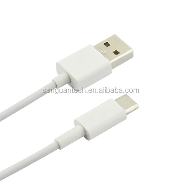 ABS shell type-c usb 3.1 cable to usb 2.0 a male with white color