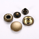 Custom metal brass button snaps for nickel free leather clothing snaps