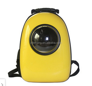 Wholesale cheap OEM transport lightweight travel carrier dog/cat bags, ABS capsule astronaut backpack