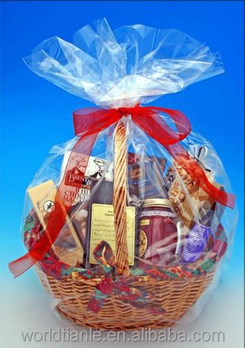 Wholesale Cheap Clear Cellophane Film Gift Basket Bag - Buy Clear Cellophane Film Gift Basket Bag,Clear Cellophane Bags For Gift Basket,Clear Basket Bag ...