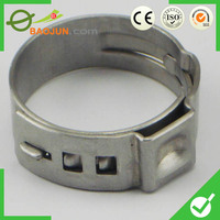 High performance fire water bag single ear stepless hose clamp