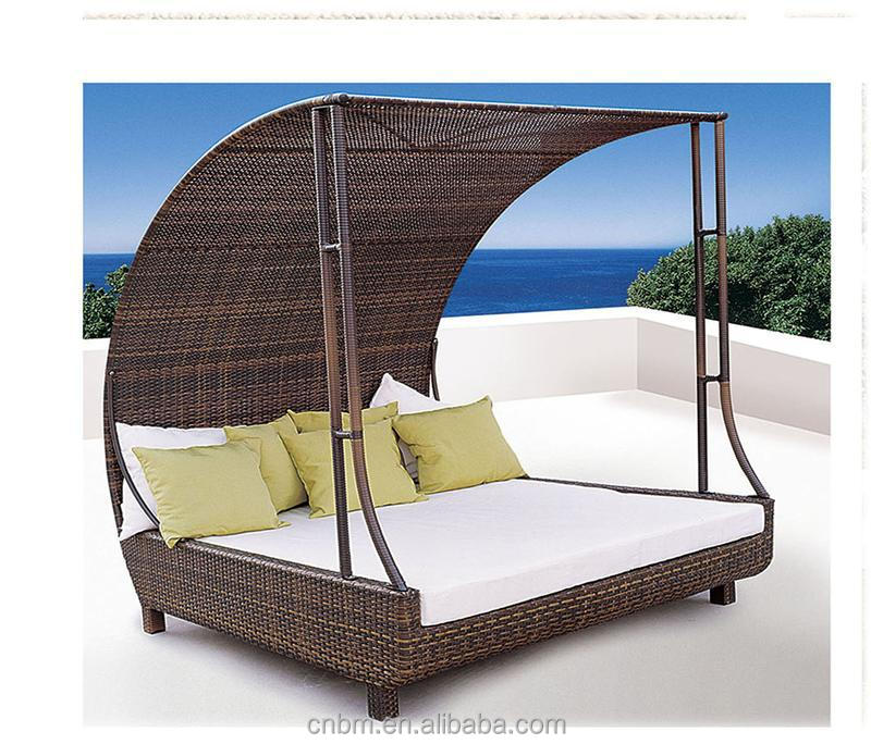 new design rattan daybed outdoor furniture garden furniture with great price cmax ss003