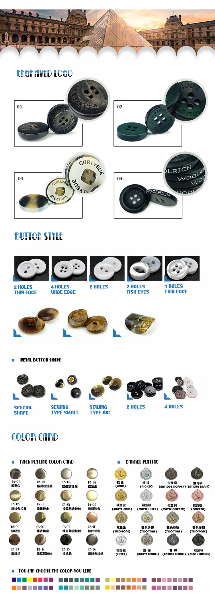 32L 40L High quality Vintage Crystal drop resin shirt four holes sewing buttons shirt plastic button