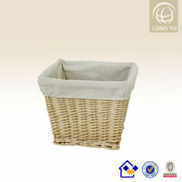 small willow laundry storage basket with handle