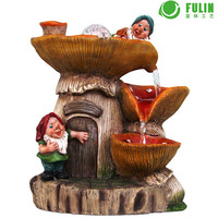 feng shui gnome mushroom house laminar flow water fountain indoor