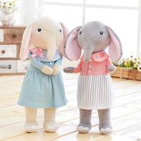Elephant Dolls Dreaming Girl Wear Cloth Pattern Skirt Plush Stuffed Gift Toys for Kids Children 12*4