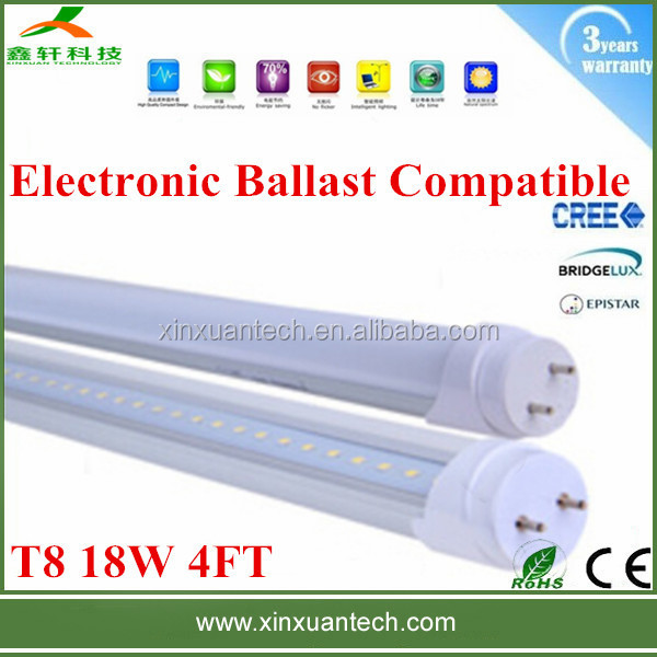 g13 4ft led tube bulb 18w t8 electronic ballast compatible 1200mm 5000k fixture