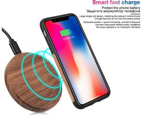 Qi Charger Wooden Nature Portable Wireless charger Fast charge