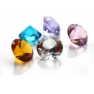 Office Decoration colorful fashion Diamond Shaped Glass Paperweight