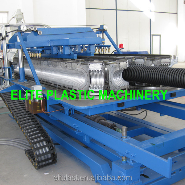 HDPE Corrugated Plastic Double Wall Pipe Production Line ESB-250