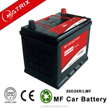best quality high power automotive battery 12v 65ah with 1 year waranty