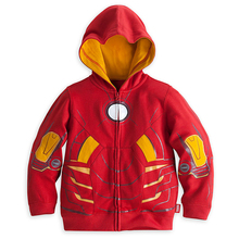 Children hooded style transformers print red color boys designer coats