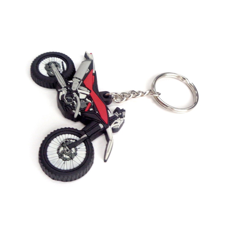 Logo Engraved Silicone Key Chain Handmade Pvc Keychain car motorcycle custom 3d metal car logo key chain