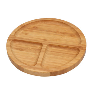 Hot selling baby round shaped bamboo dinner plates can hold all kinds of fruit
