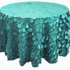 GREEN TAFFETA PETAL TABLE CLOTHS CLIPS