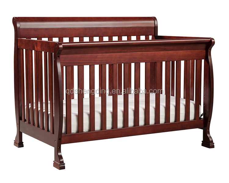 Cherry color wooden baby crib handmade baby cribs adult baby crib