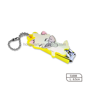 Eco-friendly Safety Plastic Fancy Cute Yellow Baby Nail Clippers