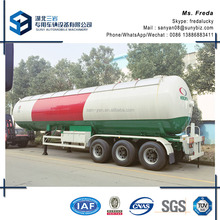 China supplier used propane transport lpg gas tank trailer for sale