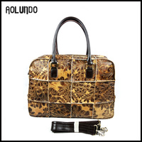 Best selling customized new desinger handbag genuine leather for lady
