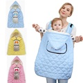 Winter Baby Carrier Cover with pockets for Mom Cloak for Sling Wrap Mantle Cover Backpack Carrier