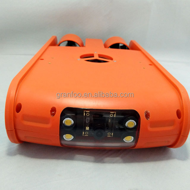 Orange underwater ROV robot camera with 100m cable