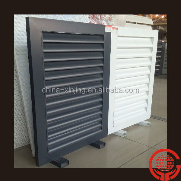 Fixed aluminum louver fence