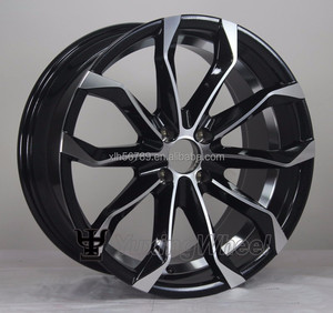 Wholesale rotiform replica alloy wheel aluminum alloy black wheel with chrome lip