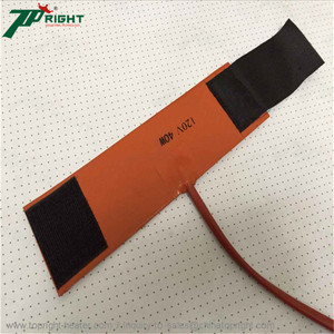 Customize CE RoHS 120v electric flexible solar water silicone rubber heating heaters with plug