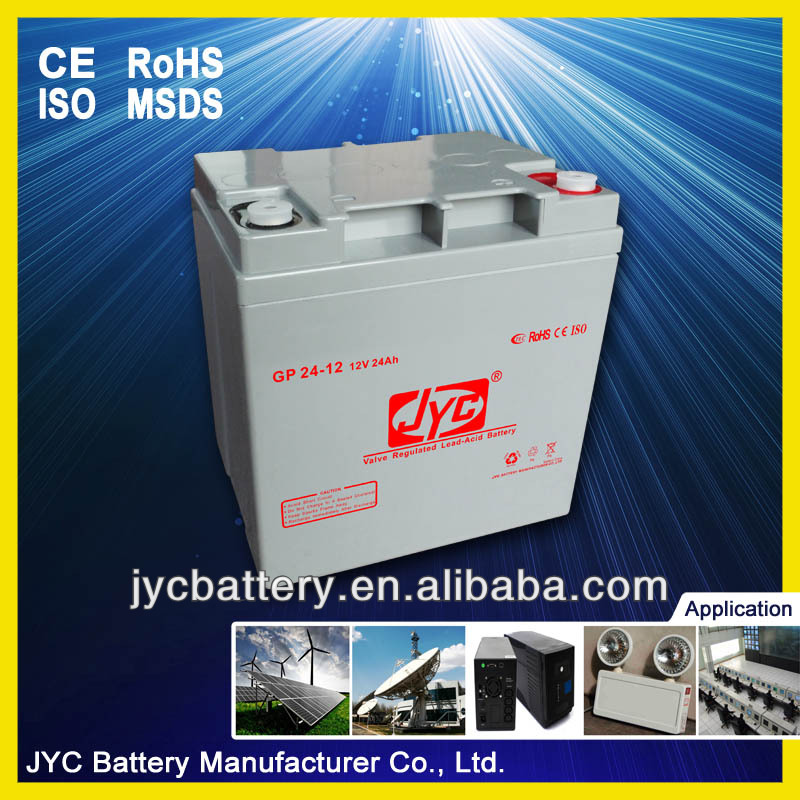 12 volts ups batteries rechargeable battery 24Ah