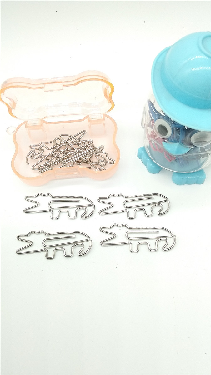 Animal alligator Plastic Shape Metal wire for Paper Clips