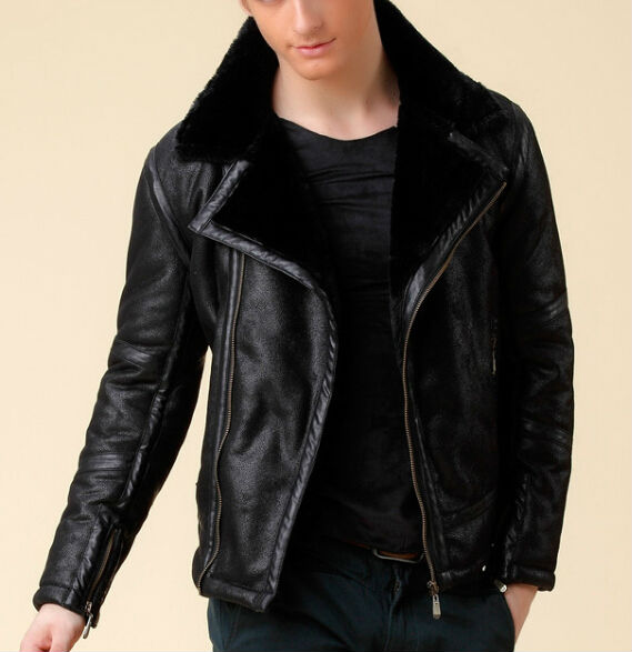 Leather Jacket With Fur Mens Photo Album - Reikian