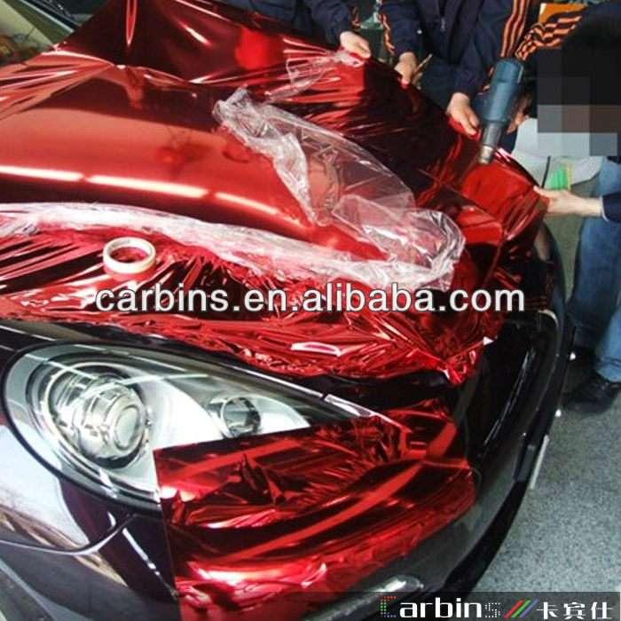 New Chrome Red Metallic Chrome Car Wrap Vinyl Film 1 52 20m Buy