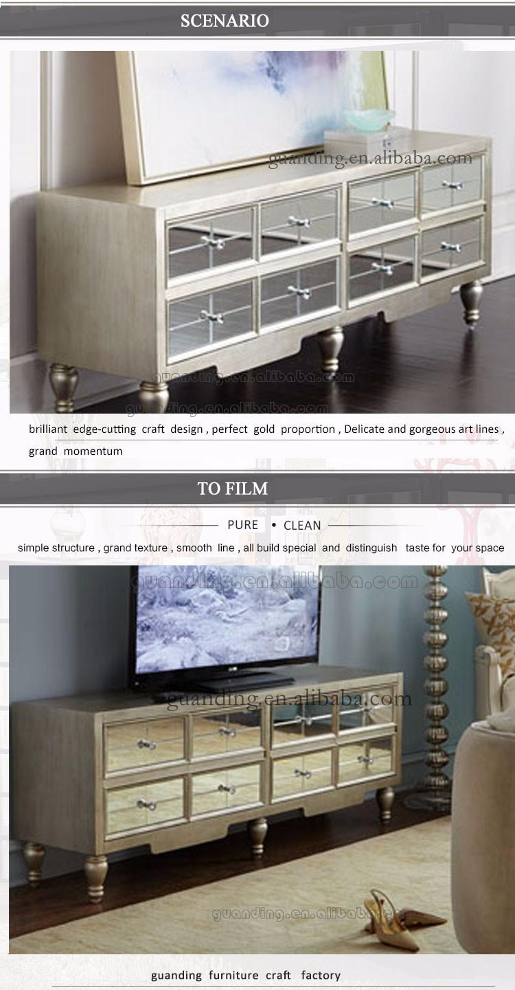 Nouveau Mod Le De Luxe Mdf Salon Miroir Vitrine Meuble Tv Table  # Meuble Tv Luxe