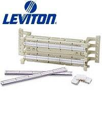 Leviton 41AB2-1F4 GigaMax 5e 110-Style Wall Mount Wiring Block w/ Legs (Pkg of 3)