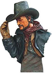 StealStreet SS-G-11683 Cowboy Tipping Hat with Red Scarf Bust, 14""