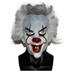 Allan Poe Mask For Carnival Adult Pennywise Clown Mask With Wig Crazy Clown Mask Party Fance Dress Up Costume
