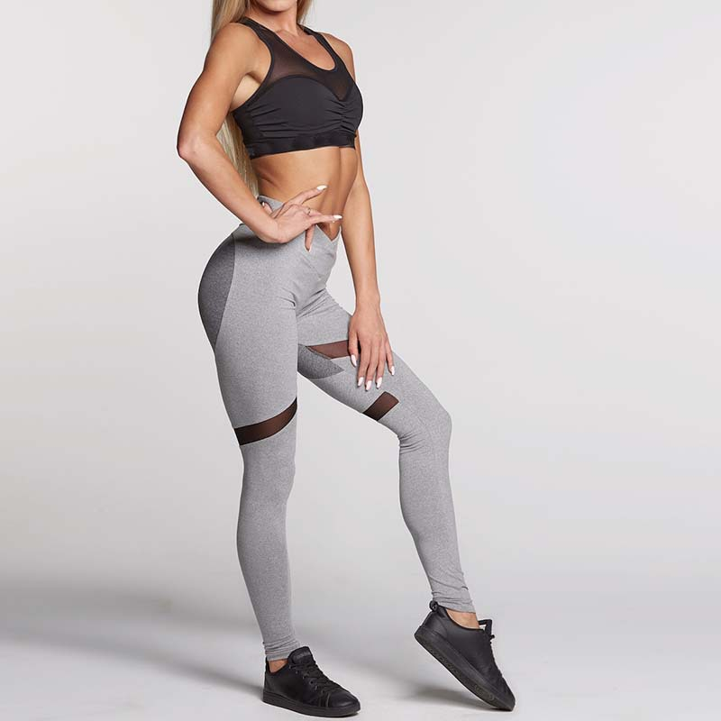 Women Yoga Pants Power Flex Sport Pants Active Stretch High Waist Workout Running Yoga Leggings 3