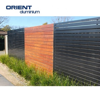 Wood Color Aluminum Fencing Wooden Garden Fence Panels